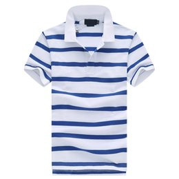 601bf2a08 6 Colors Mens Brand Polo Shirt 19 SS Classic Stripes Short Sleeve Polos  Embroidery Turn Down Neck T Shirt Embroidery Design Male Shirt