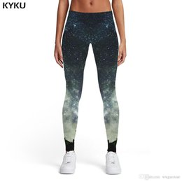 Xl Womens Leggings Australia - KYKU Brand Galaxy Leggings Women Tree Printed pants Cloud Spandex Gray Leggins Space Trousers Womens Leggings Pants Jeggings