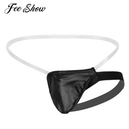 lingerie bulge 2020 - Mens Erotic Lingerie Mini Coverage Briefs Underwear Sissy Panties Clear Waistband Backless Stretchy Bulge Pouch G-string