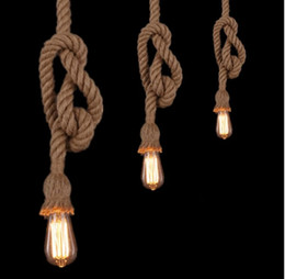 Lofts cLothing online shopping - LOFT DIY Handmade Hemp Rope Pendant Light Creative Personality Retro Style Cafe Bar Clothing Industry Lighting