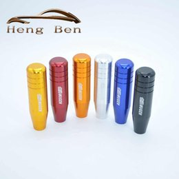 Discount mugen knob - HB Mugen shift knob 13cm Length Aluminum Gear Shift Knob Racing Car Universal Gear