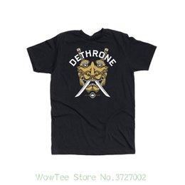 Dethrone Men The Mask T-shirt Verão Camisas de Manga Curta Tops S ~ 3xl Tamanho Grande Algodão Tees Frete Grátis venda por atacado