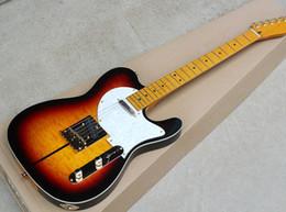 Mahogany veneer guitar online shopping - Factory custom Electric Guitar with Merle Haggard Signature Tuff Dog SUPER RARE Flame Maple Veneer Neck offer customized