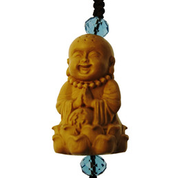 $enCountryForm.capitalKeyWord UK - Little cute monk mini Buddhist ornaments sculpture key mobile phone decorations