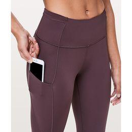 "Wholesale Hot Sale Wholesale Women's Lu|u|emon Yoga Jogger Fast & Free 7 8 Tight II Nulux 25"" Pants Legings Gym Pant"