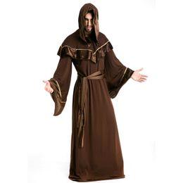 $enCountryForm.capitalKeyWord Australia - New Arrival Zombie High Priest Costume Mens Minister Halloween Fancy Dress Costume Death Cloak Cosplay