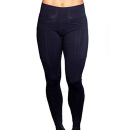Discount tight pants america - 2019 New Hip Yoga Pants Female Europe And America High Waist Sexy Solid Color Tights Running Fitness Pants Yoga