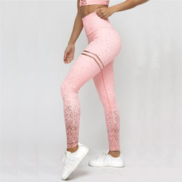 Black Pink Leggings Australia - New Hotsale Women Pink Rosed Gold Print Leggings High Waist Women Sportwear Clothes Black Fitness Leggins
