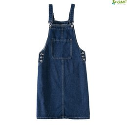 dresses big pockets UK - 2019 Denim Summer Dresses For Women Spaghetti Strap Jeans Dress Sleeveless Big Size Party Dress Fashion New Midi Sundress S-4XL Y19042401