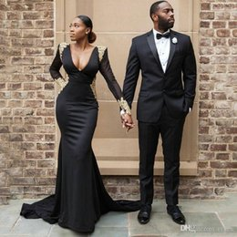 $enCountryForm.capitalKeyWord Australia - Formal Black Men Suits for Wedding Suits Man Blazers Custom Made Groom Tuxedos 2Piece Coat Trousers Slim Fit Costume Homme Evening Party