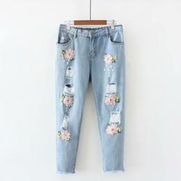 Jeans Floreados De Mujer Oferta Online Dhgate Com