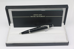 bohemia pen Australia - High quality Bohemia short MB Ballpoint Pen black body Silver trim white star inlay serial number and the diamond color is random delivery