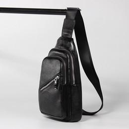 $enCountryForm.capitalKeyWord Australia - Men's Leather Chest Bag Simple Temperament Solid Color New Casual Fashion Slanting Tide Tide Tide Head Layer Leather Men's Bag