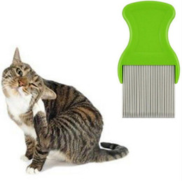 $enCountryForm.capitalKeyWord UK - Pets Dogs Comb For Nits Lice Pocket Pet Grooming Comb Get Rid Of Flea Lice Pin Comb Dog Cat Hair Shedding Supplies Grooming Tool DHL