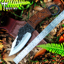 Knife Forged Australia - Voltron straight knife, hand-forged knife, tactical special battle wilderness survival knife, jungle wild self-defense knife
