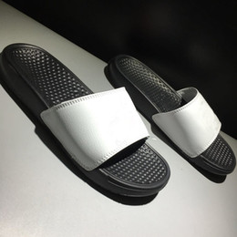 $enCountryForm.capitalKeyWord NZ - 2019 Hot Sale Summer Beach Slippers Benassi What the Black White slides slippers for Top quality Men Women designer Fashion Shoes Size 36-45