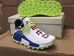 8a530a857 2019 Hottest NMD Hu Pharrell Williams NERD Creme PW Homecoming Men Women Running  Shoes Authentic White Blue Red EE6283 Sneakers With Box