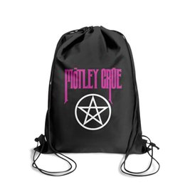 Strung Feathers Australia - Drawstring Sports Backpack motley cruecute durable athletic Pull String Backpack