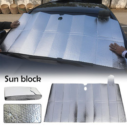 $enCountryForm.capitalKeyWord Australia - Folding Sunproof Aluminum Foil Insulation Bubble Front Sun Block Sun Shade Car Glass Sunshade Car Visor Accessories