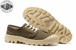 $enCountryForm.capitalKeyWord Australia - PALLADIUM Pampa Oxford Army green Beige Sneakers Flats Men Casual Shoes Men Zapatos de hombre Eur Size 39-45