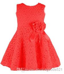 $enCountryForm.capitalKeyWord UK - New Arrival Girl Dress Baby Sleeveless Tutu Dresses Kids Princess Lace Dress Summer New Pink Red Children Flower Dresses 5p l
