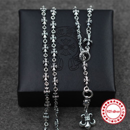 anchor pendant silver NZ - S925 sterling silver necklaces pendants retro personality classic fashion punk style cross anchor necklace pendant lover's gift 2019