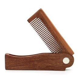 $enCountryForm.capitalKeyWord UK - Foldable Hair Comb Portable Wooden Comb Massage Hairbrush W7165