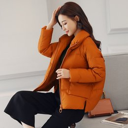 $enCountryForm.capitalKeyWord NZ - Stand Causal Collar Warm Winter Jacket Women New Down Parkas Cotton Padded Jacket Girls Slim Thick Short Female Jacket Coat