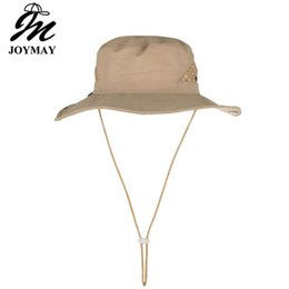 ebe6cbe301447 Joymay Solid Color Boonie Hats Nepalese Cap Militares Army Mens Military Hiking  Hats Summer Bucket Hat Fishing hat YF021