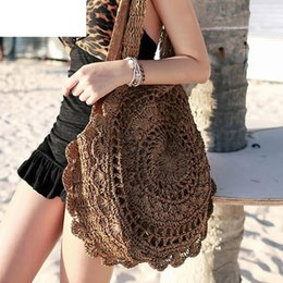 Big Chinese Cell Phone Australia - New Arrive Handmade Chinese National Beach Bag Big Straw Handbag Crossbody Designer Messenger Women Bag