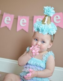 $enCountryForm.capitalKeyWord Australia - Baby Girls Glitter Crown fabric flowers Princess Headbands Infant Toddler Kids hair band birthday party headwear Children hair accessories