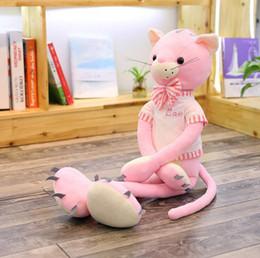 $enCountryForm.capitalKeyWord Australia - 29# factory direct pink cat doll plush toy wear long legs cat claw machine doll children girl birthday gift 70 cm