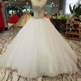 Discount delivery flowers - Strapless Crystal Classic Style Wedding Dress Sexy Floor Length Corset Bride Wedding Party Dress 2019 Quick Delivery Fas