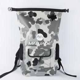 $enCountryForm.capitalKeyWord NZ - 22L New Style RollTop Waterproof Backpack Upstream Dry Bag Airtight 0.55MM 500D PVC Tarpaulin Double Padded Shoulder Straps