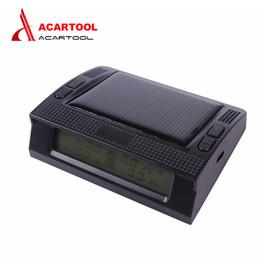 Pressure Connectors Australia - New acartool TPMS Car Tire Pressure Monitoring Intelligent System with LED Display Screen 4 Internal Sensors Solar Power Supply