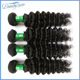 $enCountryForm.capitalKeyWord NZ - Beautysister hair products indian virgin hair deep wave style 4bundles 400g lot 8a indian human hair extensions natural black color