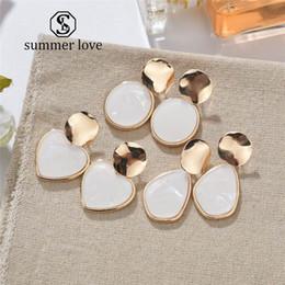 $enCountryForm.capitalKeyWord Australia - 2019 New Gold Korean Sequins Acrylic Earrings For Women Lover Fashion Drop Round Heart Dangle Earring Wedding Geometric Jewelry