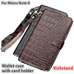 $enCountryForm.capitalKeyWord NZ - QX10 Crocodile Texture Gneuine Leather Wallet Case With Card Holders For Meizu Note 9 Phone Case Fundas With Lanyard