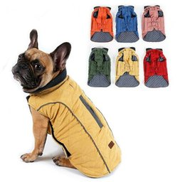 China High Quality Dog Clothes Quilted Dog Coat Water Repellent Winter Dog Pet Jacket Vest Retro Cozy Warm Pet Outfit Clothes Big Dogs cheap cozy clothing suppliers