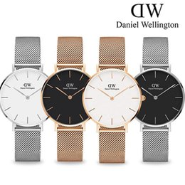 Women strip men online shopping - New Fashion Girls Steel strip Daniel watches mm women watches mm men watches Quartz Watch Feminino Montre Femme Relogio Wristwatches