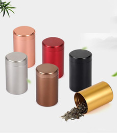Seal Coating Australia - 7 Colors Beautiful Aluminum Tea Packing Box 45x65mm Small Cylinder Sealed Cans Coffee Tea Container