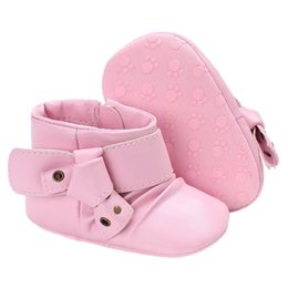 sapatos shoes girls UK - PU Leather Girls Baby Boots Boys Booties Non-slip Soft Sole Toddler Shoes First Walkers Sapatos Zapatos De 2020