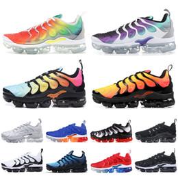 54cf85030 Dark flats online shopping - 2019 TN Plus Rainbow Running Shoes Men Women  Grape Tropical Sunset