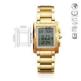 Watches Muslim Qibla Watch With Azan Time And Hijri Alfajr Watch 6260 Azan Watch With Prayer Alarm Tonneau Watch For Muslim Men's Watches