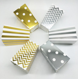 Corn Box Australia - 2019 Gold Silver Stiff Paper Mini Party Popcorn Boxes Pop Corn Candy  Sanck Favor Bags Wedding Birthday Movie Party Tableware
