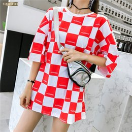 dolman tees NZ - Summer T Shirt Fashion Short Sleeve Female T Harajuku Loose Batwing Dolman Leaves Printed Oversize Red Casual Long Tops Tee