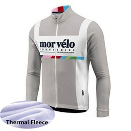 Discount bicycle winter clothes - Hot Sale! MORVELO Men cycling jersey long sleeve Winter Thermal Fleece cycling clothing Mountain Bike wear MTB Bicycle c