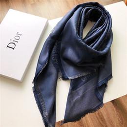 $enCountryForm.capitalKeyWord Australia - Hot fashion men's women's scarves luxury silver silk color cotton line letter large square shawl autumn and winter warm shawl 140*140cm