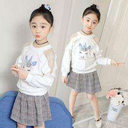 Kids sweatshirts for girls online shopping - Girls Blouse Spring Flower Unicorn Baby Girls Sweatshirt Korean Kids Cute Open Shoulder Hoodies for Years Tops