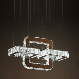 Obedient Modern Chrome Chandelier Crystal Diamond Ring Led Lamp Circle Lights Stainless Steel Hanging Light Fixtures Lighting Led Lustres Chandeliers